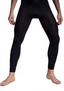 Men footless tight black